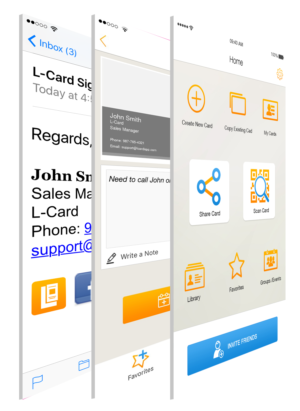 L card digital business card app for android and iphone business introducing l card the new type of business card colourmoves